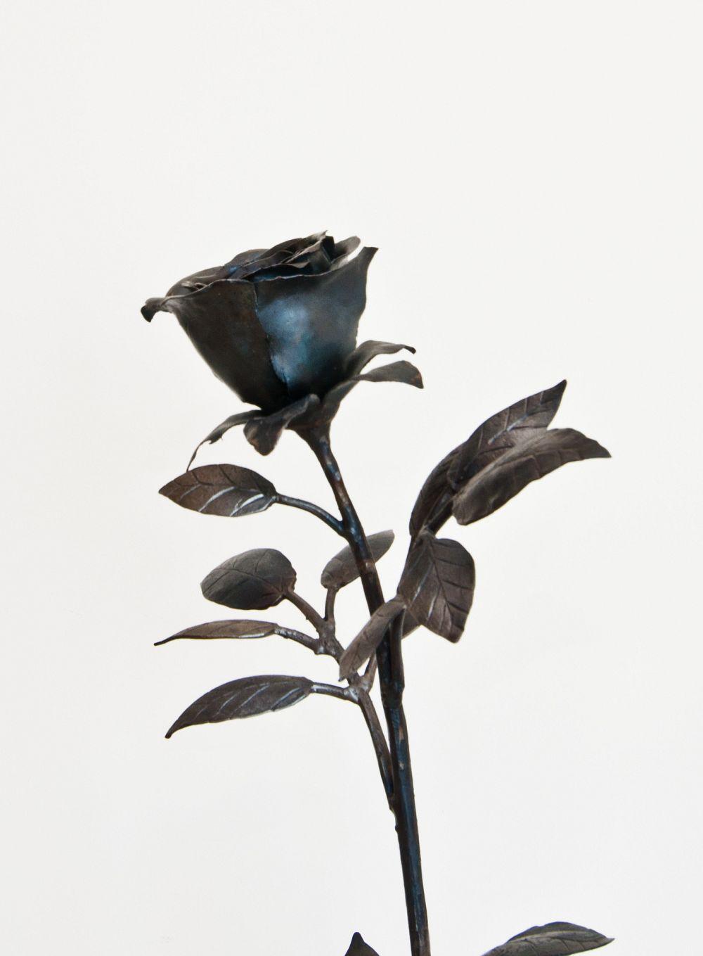 Rosa in ferro battuto