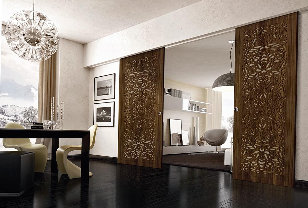 Porte scorrevoli in legno