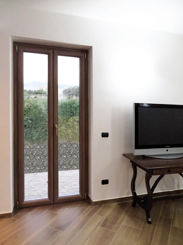 Porta finestra legno e alluminio